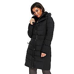 Wallis - Black ella padded coat