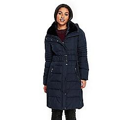 Wallis - Navy blue padded coat