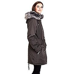 Wallis - Grey parka jacket