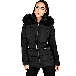 Wallis - Black short padded coat