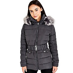 Wallis - Grey short padded coat