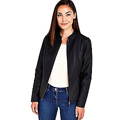Wallis - Black gothic biker jacket