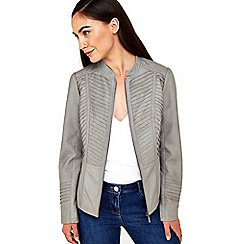 Wallis - Grey gothic biker jacket