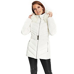 Wallis - Winter white padded coat