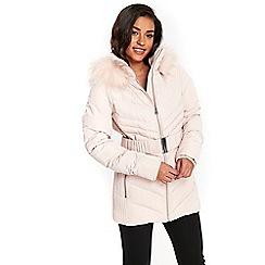Wallis - Pale pink padded coat