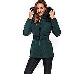 Wallis - Green short padded coat