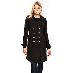 Wallis - Black military coat