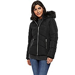 Wallis - Black short padded coat