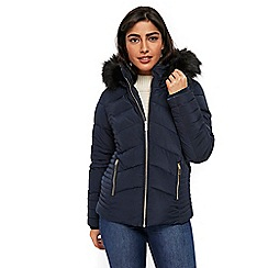 Wallis - Ink short padded coat