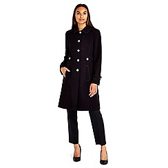 Wallis - Black longline coat