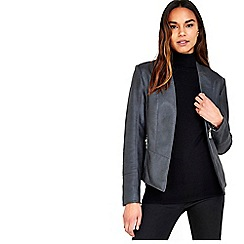 Wallis - Black Faux Leather Jacket