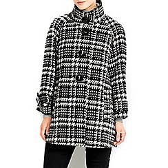 Wallis - Monochrome check swing coat