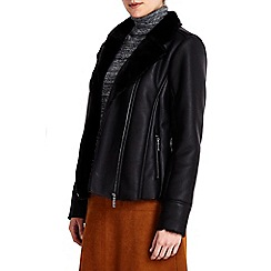 Wallis - Black sheep skin biker jacket