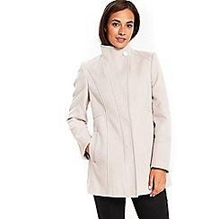 Wallis - Stone asymmetric duffle coat
