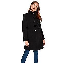Wallis - Black funnel coat
