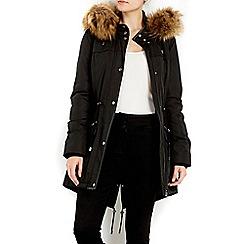Wallis - Black business class parka coat