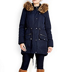 Wallis - Navy business class parka coat