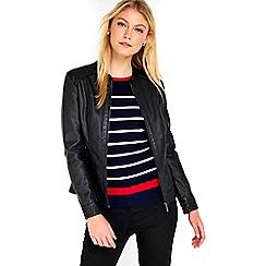 Wallis - Black lamont pu jacket