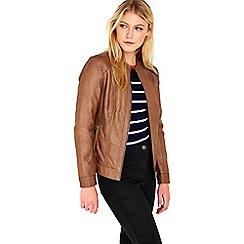 Wallis - Tan lamont pu jacket