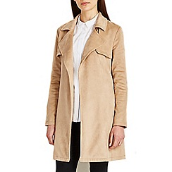 Wallis - Stone suedette trench coat