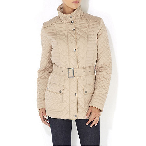 Wallis - Stone quilted jacket