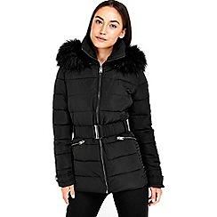 Wallis - Short black padded jacket