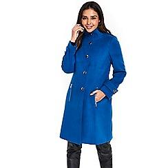 Wallis - Blue faux wool coat