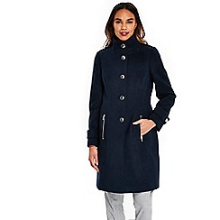 Wallis - Navy faux wool coat