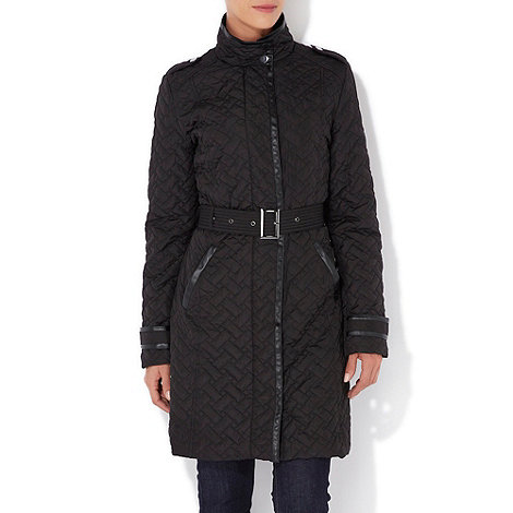 Wallis - Black padded mid length coat