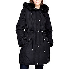 Wallis - Black parka jacket
