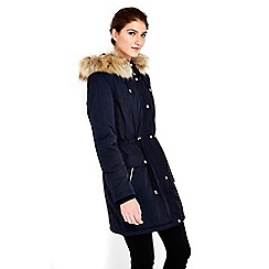 Wallis - Navy parka coat