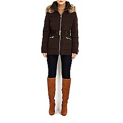 Wallis - Chocolate short padded coat