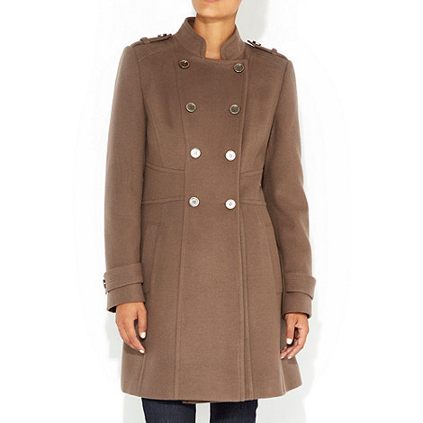 Wallis - Mocha military coat