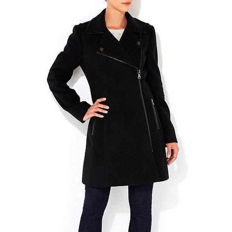 Wallis - Black biker coat
