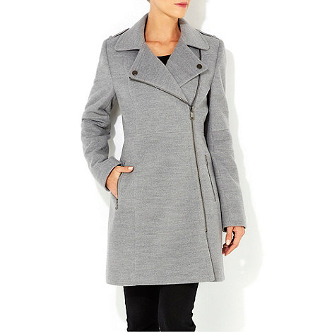 Wallis - Grey biker coat