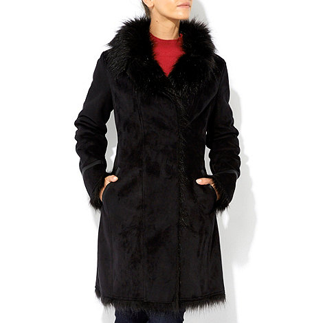 Wallis - Black shearling coat