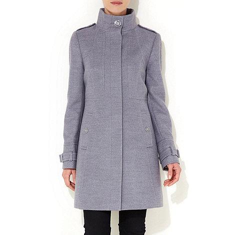 Wallis - Grey seam funnel coat