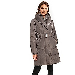 Wallis - Mink cosy collar padded coat