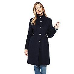 Wallis - Navy detail funnel coat