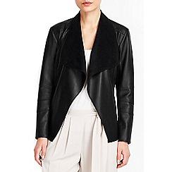 Wallis - Black waterfall jacket