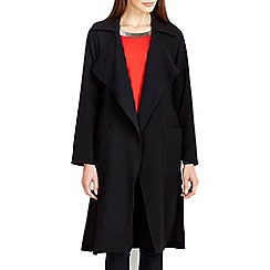Wallis - Black crepe trench coat