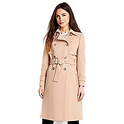 Wallis - Camel gold trim trench coat