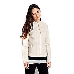 Wallis - Cream leather look jacket