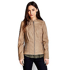 Wallis - Stone leather look jacket