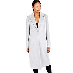 Wallis - Grey longline coat