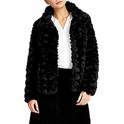 Wallis - Black short faux fur jacket