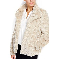 Wallis - Honey short faux fur jacket