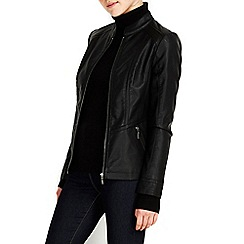 Wallis - Black centre front biker jacket
