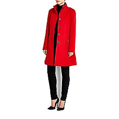 Wallis - Red multistitch funnel coat