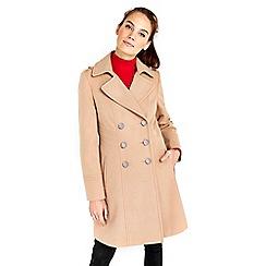 Wallis - Camel military faux wool coat